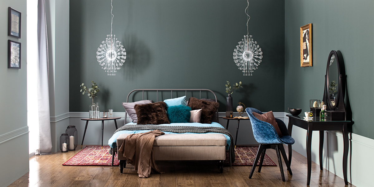 bedroom-in-dark-grey-Tikkurila-Optiva