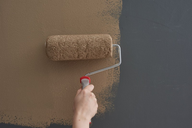 Painting the wall to chocolate brown